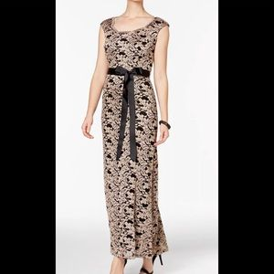 Formal Dresses Size 12 Black & Gold Lace Gown NEW
